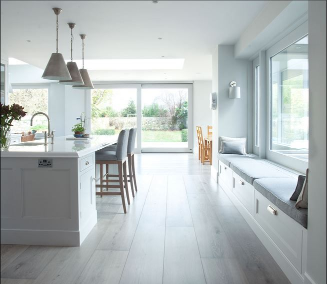 Looking to create a relaxing space in your #kitchen? Why not utilise your windows and make an area that is calming and will benefit from the #natural light this #summer? Contact us to see how we can help you achieve this look.