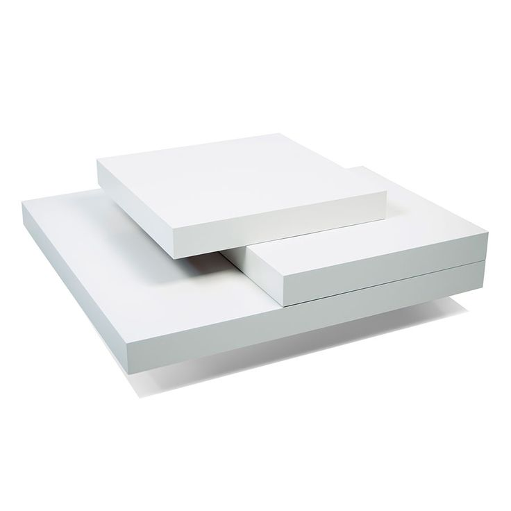 Slate White Contemporary Coffee Table