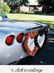 Double Heart Wedding Car Decoration