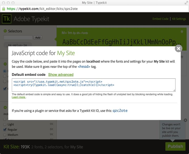 New embed code for asynchronous font loading