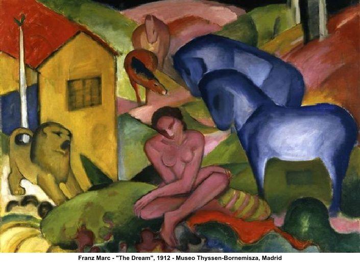 Franz Marc - 'The Dream', 1912 - Museo Thyssen-Bornemisza, Madrid