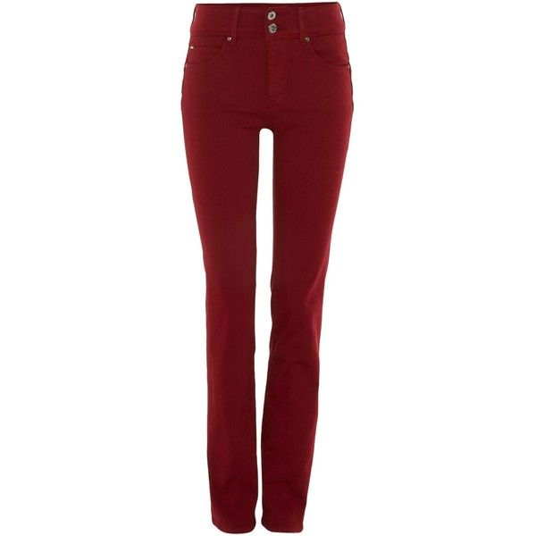 Salsa Secret push in slim jean ($130) ❤ liked on Polyvore featuring jeans, red, women, slim fit jeans, slim jeans, red slim jeans, slim leg jeans and salsa jeans