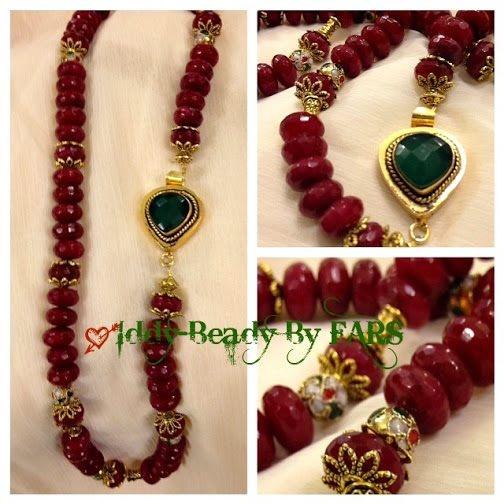 Valentine's Ruby jade necklace   https://www.facebook.com/IddyBeadyByFARS