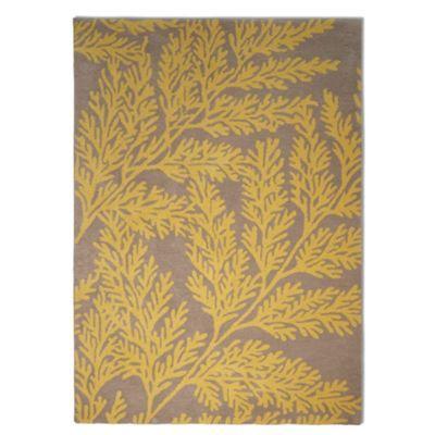 Debenhams Yellow wool 'Leaf' rug- at Debenhams.com