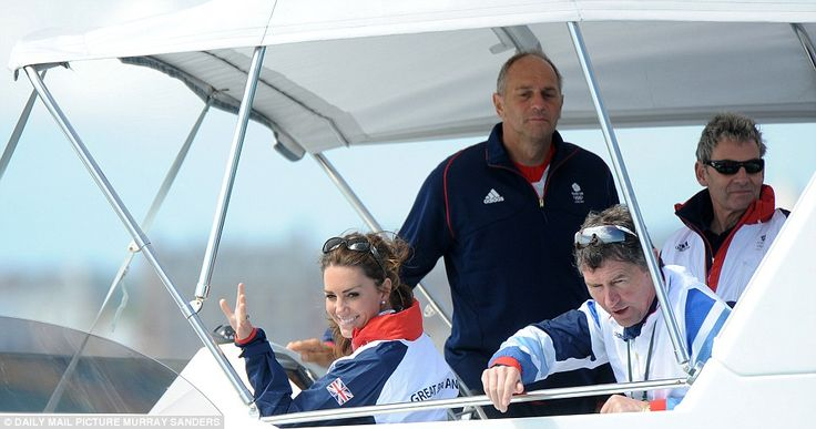 The Duchess of Cambridge took to the water to cheer on the ladies in the Laser Radial medal race today