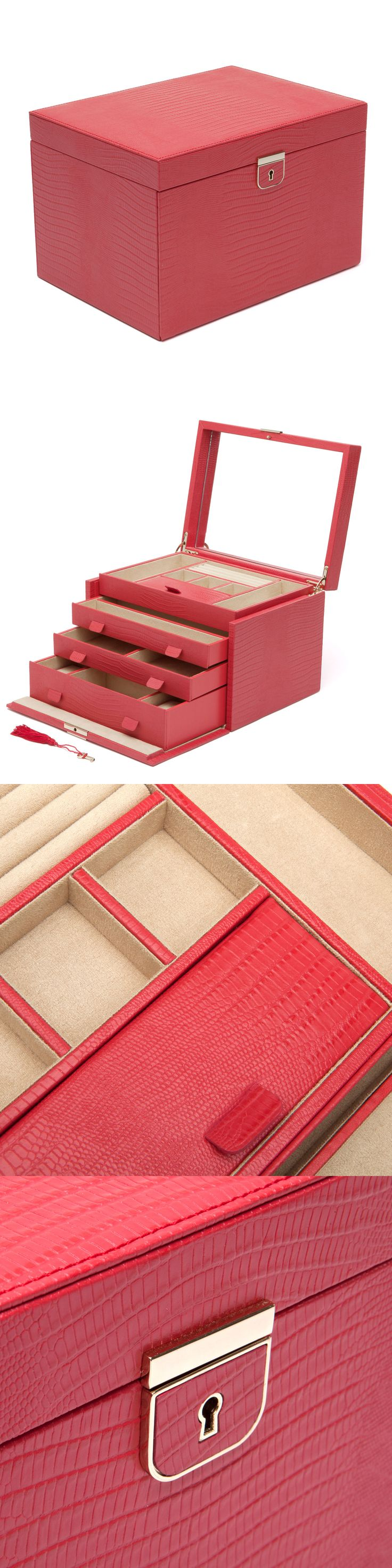 Jewelry Boxes 3820: Wolf Designs Palermo Large Leather Jewelry Box, Coral -> BUY IT NOW ONLY: $245 on eBay!