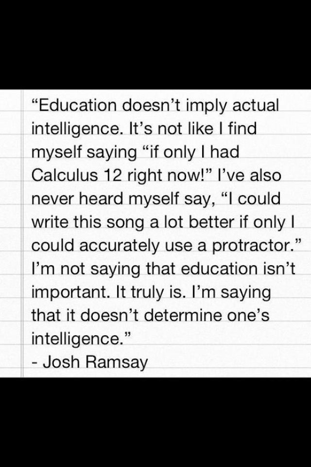 Josh Ramsay from Marianas Trench being smart as fuck.