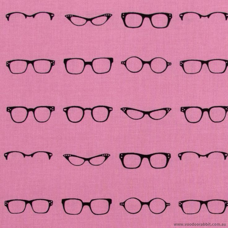 Geekly Chic Glasses Hot Pink by Riley Blake | Voodoo Rabbit Fabric, East Brisbane Australia