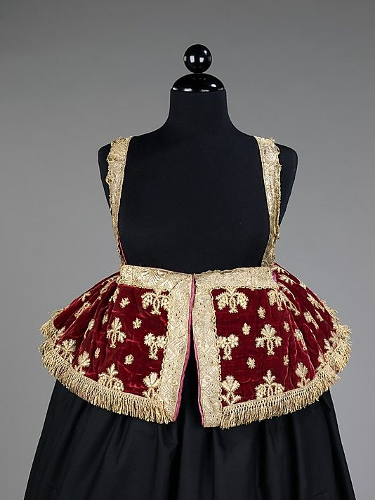 Jacket Date: 1840–80 Culture: Russian Medium: silk, metal, linen Dimensions: Length at CB: 29 in. (73.7 cm)