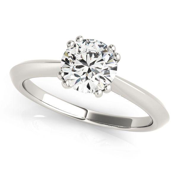 ''Morena'' Solitaire Petite Knife Edge Diamond Engagement Ring