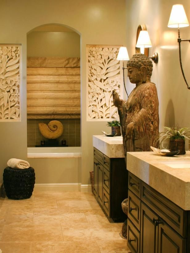 Zen Bathroom with Asian Flair