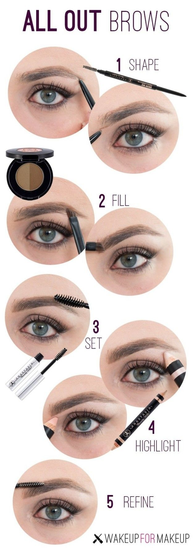 Learn which of the hundreds of brow products and tools out there do what your brows need. | 7 Ridiculously Easy Makeup Tips That Will Simplify Your Life