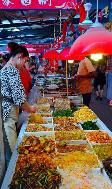 Chinese Street Food, Dalian China - Looks Gorgeous :) #chinese #Food #etable