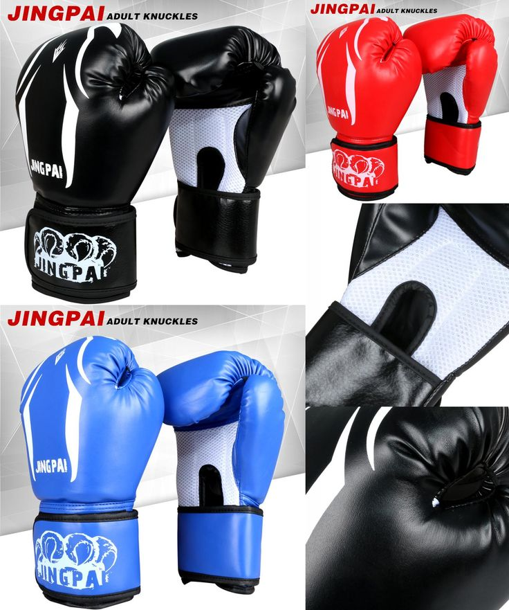 [Visit to Buy] 3 Color boxing gloves adult male female Guantes de gloves Cuero Sparring gloving mitts luvas de boxeo punching bag gloves TKD #Advertisement