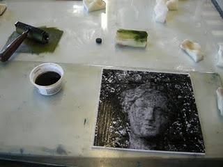 Gum Arabic Transfers or Paper Lithography Tutorial... I want to try this, but to transfer the image to a litho stone...hmmm