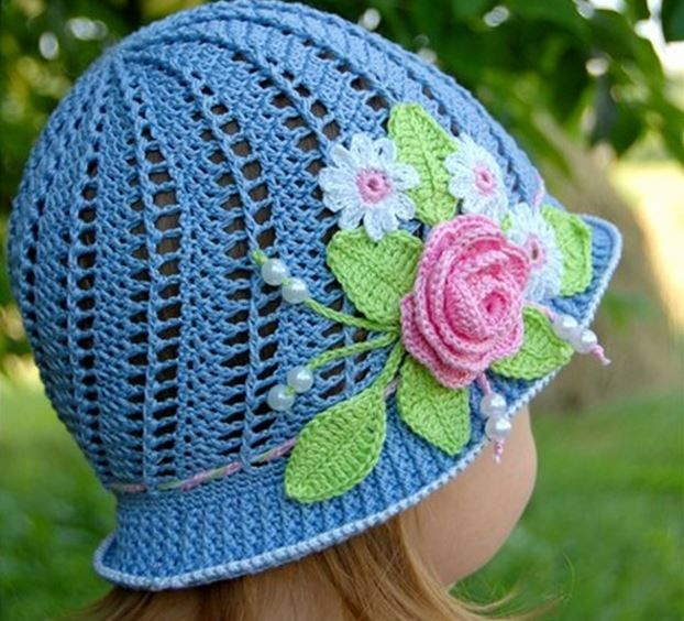 Baby Crochet Hat Patterns With Flowers