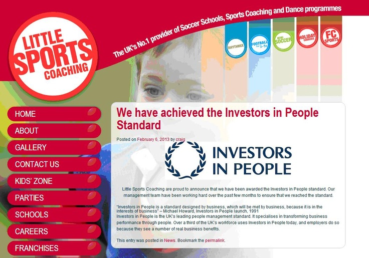 Little Sports Coaching has achieved IIP