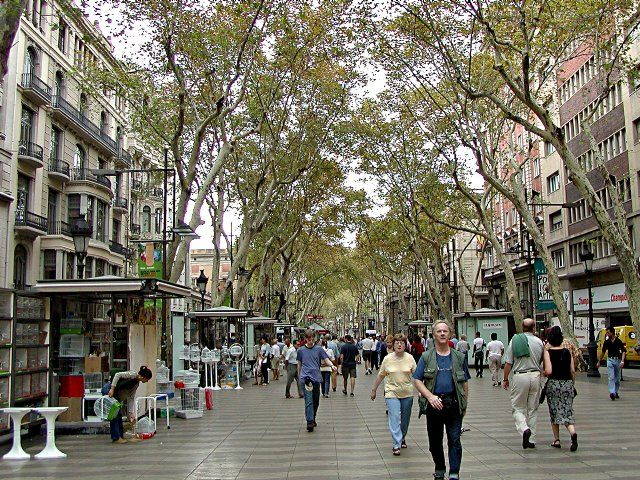 Las Ramblas. Barcelona, Spain.  Fantastic place to people watch.  This is the heart of the city!
