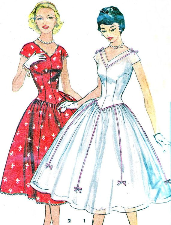 1950s Dress Pattern Simplicity 1518 Day or Evening by paneenjerez, $50.00