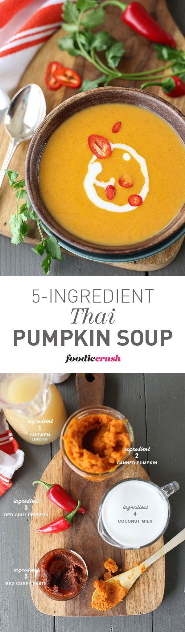 There's no chopping, no sautéeing for this healthy soup. It seriously takes maybe 5 minutes more to make this soup than opening a can of Campbell's. It's that easy | foodiecrush.com