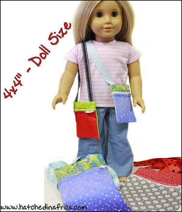 In the hoop Cross over purse. Make a matching girl and doll purse. HatchedInAfrica.com | Product Details