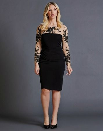 What to wear: Wedding guest - This edgy tattoo dress is a great balance between sexy and conservative. The intricate sheer lace detail gives the illusion of a tattoo pattern along the chest and arms. The ruching along the middle section of this dress lets you indulge in great food with friends. Shop this look here:  https://rentfrockrepeat.com/products/black-and-nude-tattoo-lace-dress