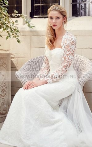 Square Floor-length Tulle Dropped Buttons Wedding Dresses gncf1008--Hodress