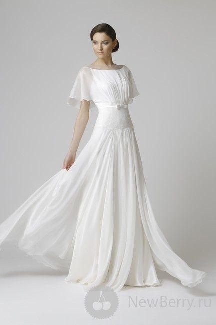 Best 25 simple short sleeve wedding dress ideas on for Plus size flowy wedding dresses