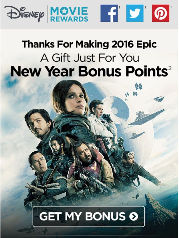 Disney rewards members: Don't forget to check your email for a 2017 bonus points surprise.