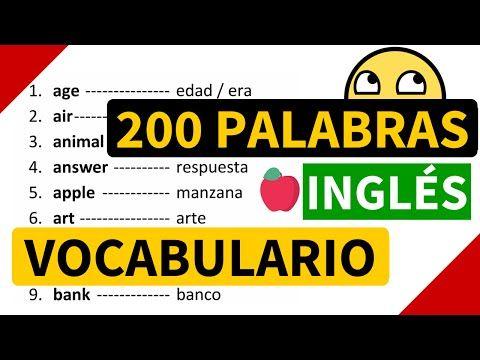 200 palabras importantes en inglés y su significado en español con pronunciación [Vocabulario 3] - YouTube