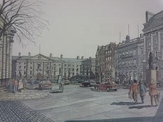 College Green, thanks Irish Whiskey Museum! #trinity #olddublin