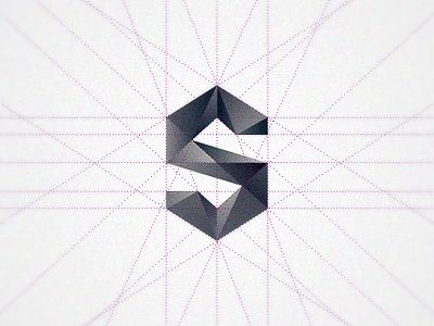 Final S by Floris Voorveld. Geometric fragments. Wow! #graphic #design