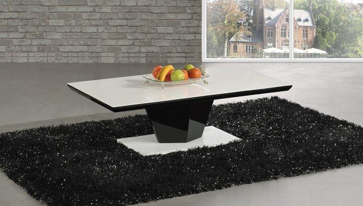 Adina High Gloss Black Glass Coffee Table #livingroom #furniture #lounge #home #decor #interior #highgloss #coffeetable #modern #contemporary #glass