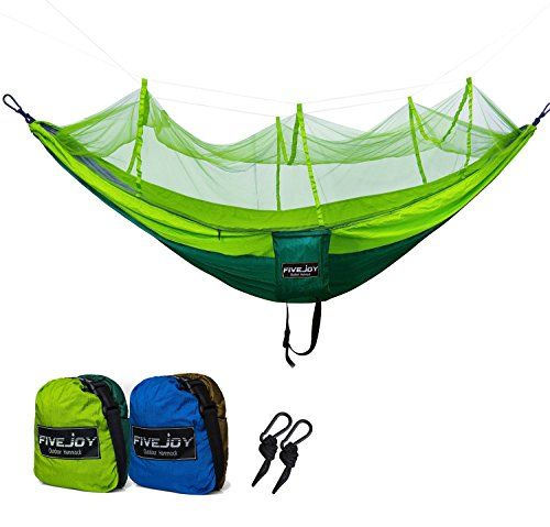 FiveJoy Ultralight Camping Hammock with Mosquito Net (400lbs Capacity)- Lightweight, Portable Parachute Hammocks for Hiking, Backpacking, Travel, Backyard, Outdoor- Compact, Easy Setup with Carabiners - http://www.caraccessoriesonlinemarket.com/fivejoy-ultralight-camping-hammock-with-mosquito-net-400lbs-capacity-lightweight-portable-parachute-hammocks-for-hiking-backpacking-travel-backyard-outdoor-compact-easy-setup-with-carabiners/  #400Lbs, #Backpacking, #Backyard, #Campi