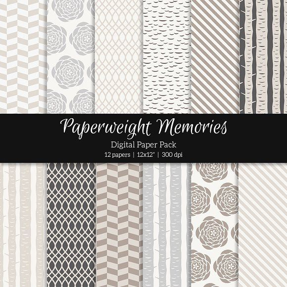 Patterned Paper – Into the Woods by Paperweight Memories on @creativemarket ... https://crmrkt.com/W3QEG