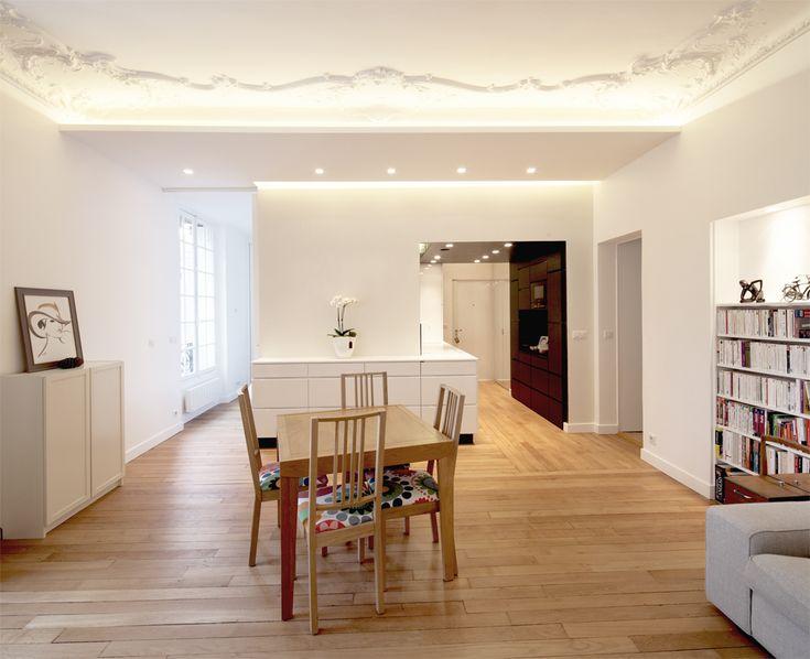 faux plafond et moulures au plafond r tro clair es agence demont reynaud ppil nouvel. Black Bedroom Furniture Sets. Home Design Ideas