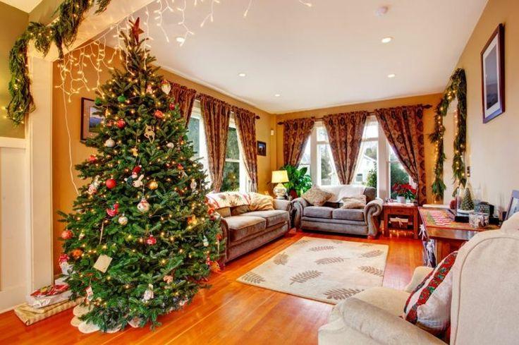 Die amerikanische Weihnachtsdeko sorgt für eine gemütliche Atmosphäre