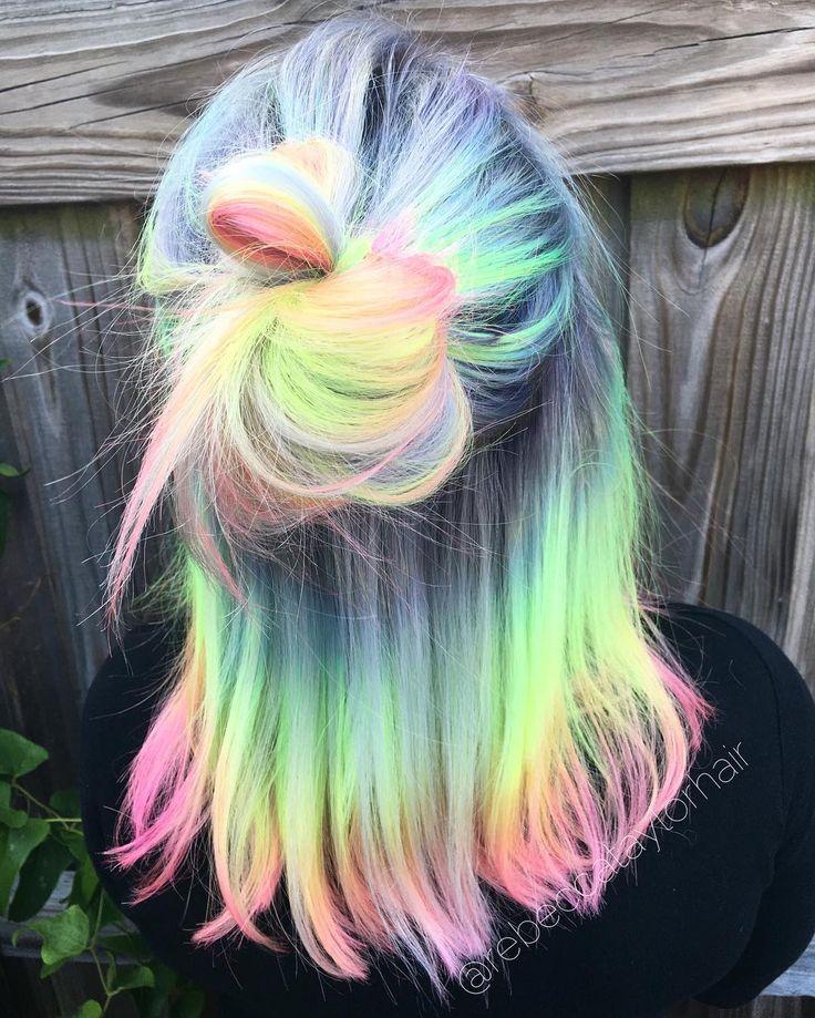 17 Best Ideas About Neon Hair On Pinterest