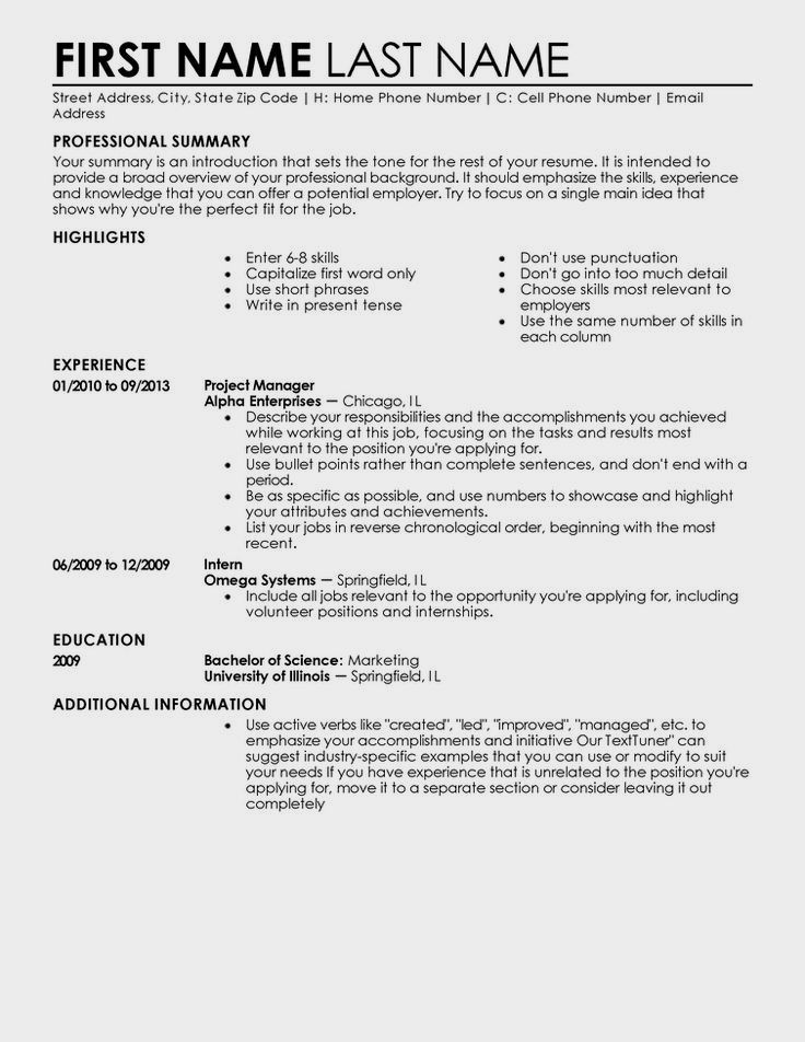 Beginner Simple Resume Template For Students