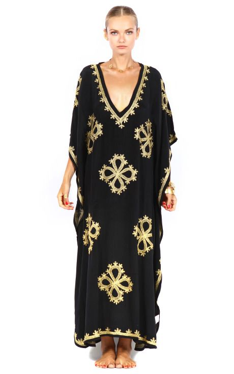 Pas Pour Toi Kaftans Kashi Flore Kaftan /can be use as hijabi fashion..need to cover a little here and there ;)