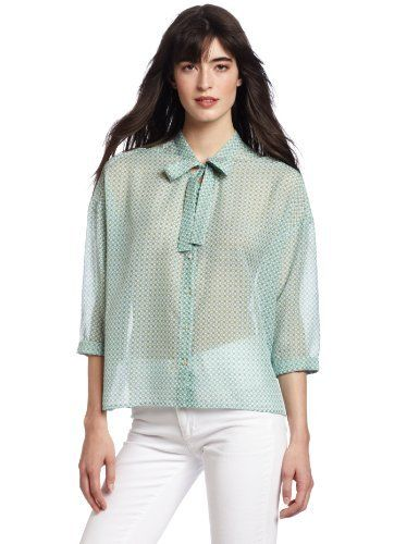 TEXTILE Elizabeth and James Women's Norie Top, Clover, Medium TEXTILE Elizabeth and James. $59.19. Dry Clean Only. 100% Polyesters. Made in China. 3/4 sleeve. Tye front