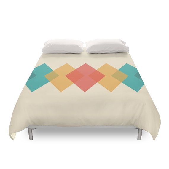 $125 1 Mid Century Rhombus Duvet Cover. Decor your home!  *****************************************************************************  AVAILABLE IN