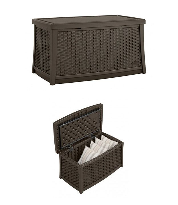 Easily Store Your Outdoor Pillows And Cushions In The Durable Suncast  ELEMENTS™ Coffee Table.