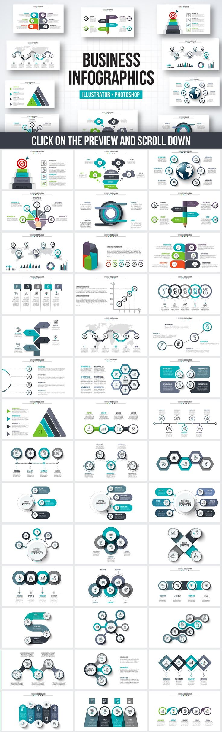 25 trending powerpoint timeline slide ideas on pinterest infographic templates bundle creative business marketing vector illustrator photoshop design template by abert on toneelgroepblik Image collections