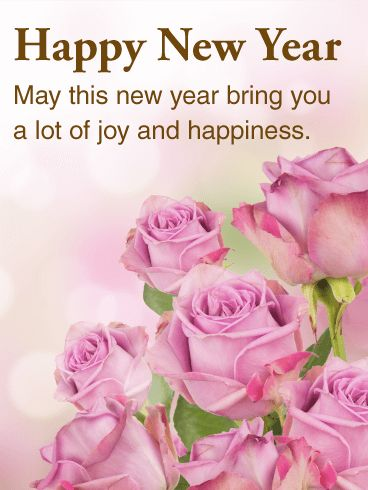 Send Free Beautiful Pink Rose Happy New Year Card to Loved Ones on Birthday & Greeting Cards by Davia. It's 100% free, and you also can use your own customized birthday calendar and birthday reminders.