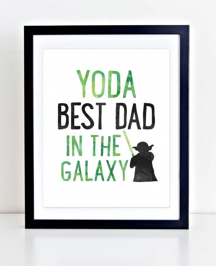 cc9c9471c Fathers Day Print, Star Wars Print, Instant Download, Yoda Print, Father's  Day Printable, Yoda Best Dad Print, Last Minute Fathers Day gift by  DuneStudio on ...