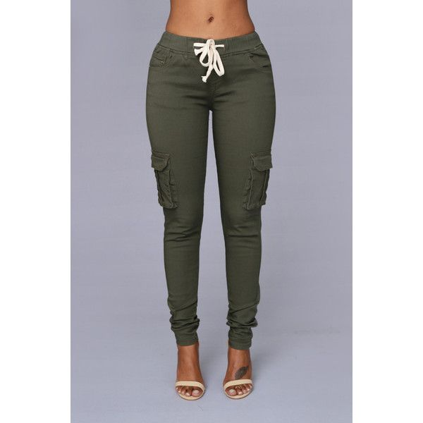 Field Trip Pants - Olive | Fashion Nova ($15) ❤ liked on Polyvore featuring pants