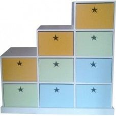 Pigeon Hole - fun storage ideas for your child's room! make the room more colourful and creative with this storage unit