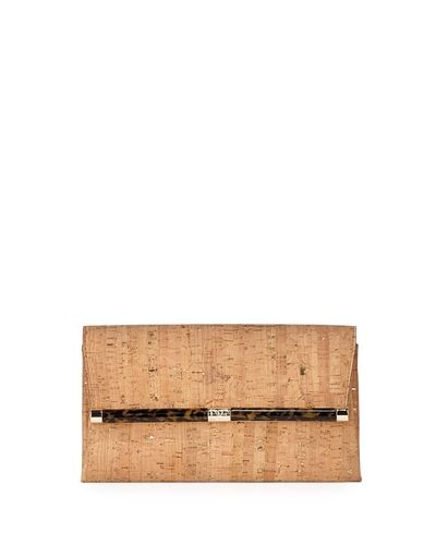 440 Cork Envelope Clutch Bag Natural