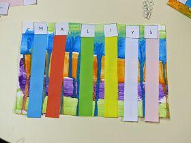 Cela fait quelques semaines que les élèves écrivent leur prénom avec des lettres magnétiques, sur des transparents pour repasser sur les let...